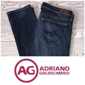AG   Stevie Slim Straight Medium Wash Jeans (30)